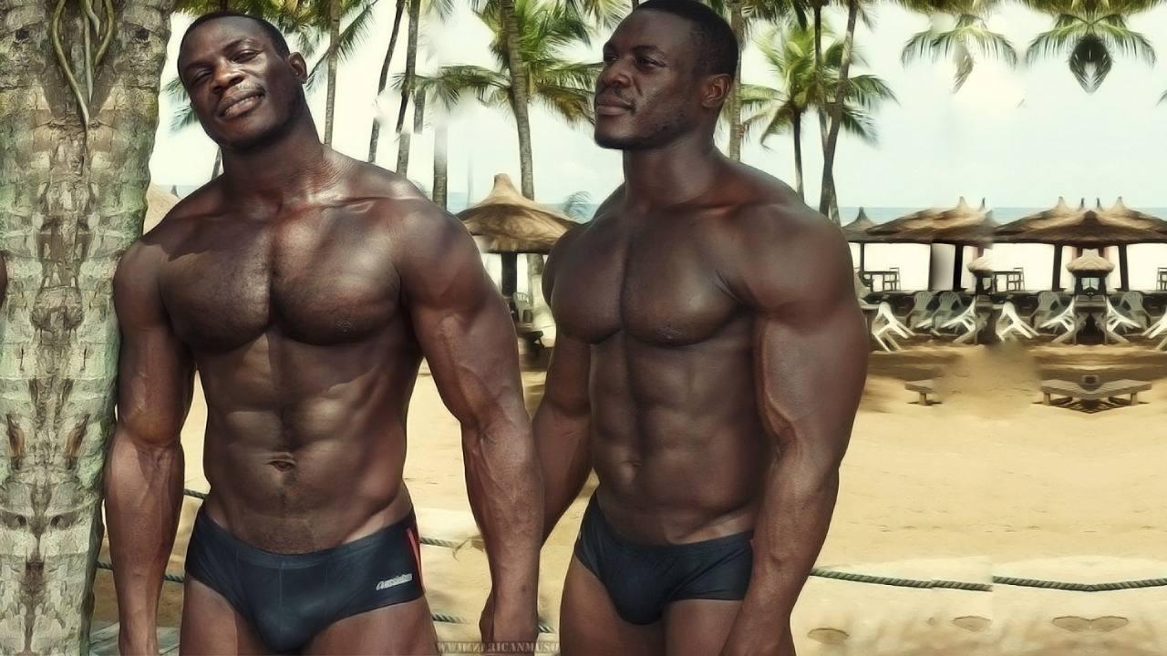 Black muscle gay pics