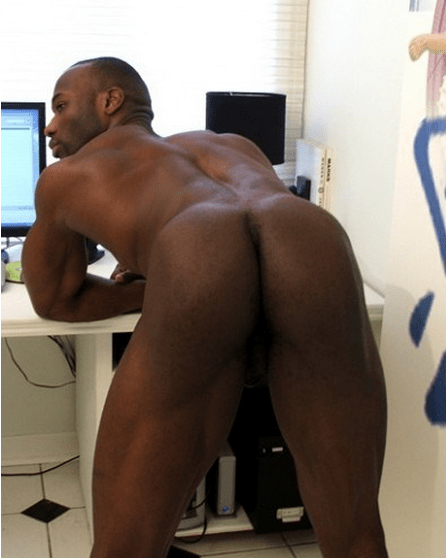 Black male butt